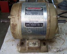 You have an electric motor designed to run on alternating current, but it does not run. This Instructable concerns a triage procedure for. Home Electrical Wiring, Electrical Projects, Solar Projects, Arduino Projects, Old Boxes, Homemade Tools, Making Tools, Garden Structures, Electric Motor