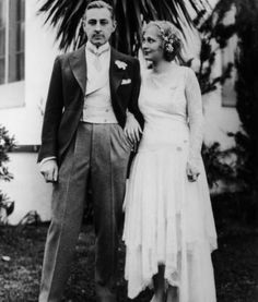 John Barrymore and Dolores Costello  Wedding Day - November 24th, 1928