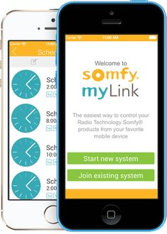 The Somfy myLink - Control your window coverings, awnings, screens and rolling shutters with a smartphone or tablet!