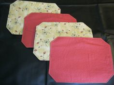 Reversible Strawberry Placemats by OffDaBolt on Etsy
