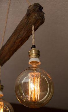 Driftwood lamp | Etsy Driftwood Lamp, Rustic Design, Light Bulb, Led, Etsy, Vintage, Bulb Lights, Bulb, Primitive