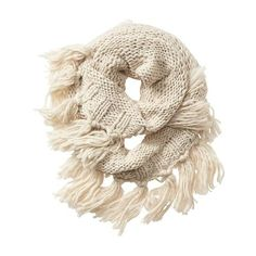 Athleta Women Boho Fringe Infinity Scarf ($36) ❤ liked on Polyvore featuring accessories, scarves, natural, bohemian scarves, circle scarves, tube scarf, circle scarf and loop scarf