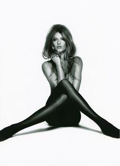 Gisele Bundchen channels Brigitte Bardot in tights and a '60s hair style