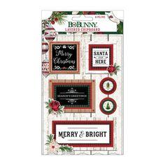 BoBunny Joyful Christmas Layered Chipboard Stickers