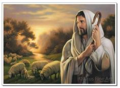 Be inspired with our selection of LDS Jesus Christ Prints including this The Lord Is My Shepherd - Print. Affordable LDS gifts, fast shipping, and customer service! Images Of Christ, Pictures Of Christ, Church Pictures, Religious Pictures, Lord Is My Shepherd, The Good Shepherd, Jesus Is Lord, Jesus Christ, Savior