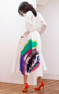 Lip print dress
