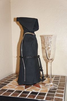 Gate Keeper Wine Monk - Wine Bottle Cover, Costume, and Unique Gift!! Classic Grim Reaper Styling