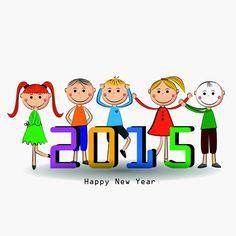 Happy new year greeting card vector illustration clip art pinterest m4hsunfo