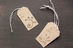 FLORAL GIFT TAGS Hand Cut Art Deco Design by JerseysFreshest, $10.00