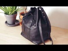 DIY Leather Bucket Bag // DIY sac seau en cuir - YouTube