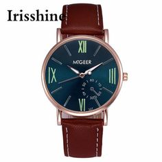 >> Click to Buy << Irisshine i0686 men watches Mens Luxury Fashion Faux Leather Mens Analog Watch Wrist Watches gift #Affiliate
