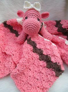 New Hippo Huggy Blanket Crochet Pattern