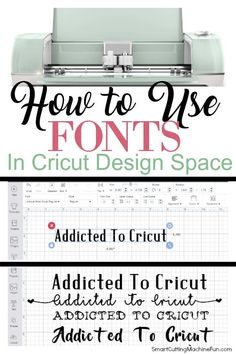 to Use Fonts in Cricut Design Space Don't be intimidated! Learn how to use fonts in Cricut Design Space TOADY!Don't be intimidated! Learn how to use fonts in Cricut Design Space TOADY!