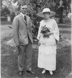 Harry and Bess Truman on the day of their wedding—June 28, 1919.