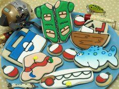 Fishing Cookies - from cheris cookies Like & Repin. Noelito Flow. Noel http://www.instagram.com/noelitoflow
