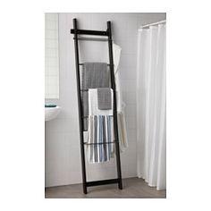 HJÄLMAREN Handdoekenbeugel - zwartbruin - IKEA