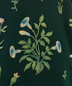 Detail of embroidery on the jacket attributed to Paul Poiret, ca. 1924.