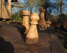 Výsledek obrázku pro chain saw carved chess
