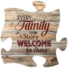 """Every family has a story, welcome to ours Measures 12"""" x 12"""" square all puzzle frames easily link together for a unique presentation"""