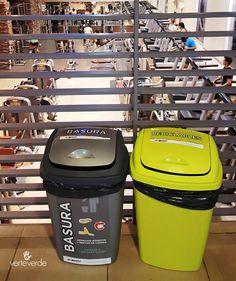 #separacionderesiduos #cestos #tachos #reciclado #gimnasio  verteverde.com