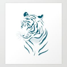 Tiger Art Print by Katikut