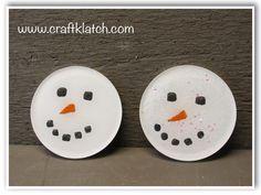 snowman, snowmen, craft ideas, idea, ideas, craft, crafts, crafting, winter, christmas, coasters, diy, making, how to, make