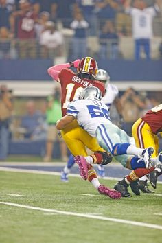 Sean Lee tackling RG3!! Sean had a great game!!