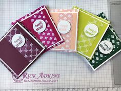 Fresh Florals Designer Series Paper Stack, Tabs for Everything, 2017-2019 InColors, Envelope Punch Board, Stampin' Up!, Stampin' On The Porch with Rick, #rickadkins, #rckinsmonstudio
