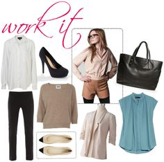 Calling all working ladies! Get your 9 to 5 chic on with these ten style staples for fall.     1. White Button Down Shirt.     2. Black Pants.     3. Black Pumps.     4. Neutral Sweater.     5. Simple Flats.     6. Long Sleeve Silk Blouse.     7. Basic Blazer.     8. Black Tights.     9. Black Tote Bag.    10. Colored Silk Crepe Top.