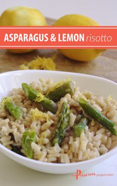 This creamy Asparagus and Lemon Risotto is a simple and delicious side dish, perfect to serve with chicken or fish!