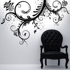 Swirl Flower 66x44 Black, $39.95, now featured on Fab. http://fab.com/2f5g7z