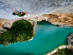Picture of Jonathan Siegrist Climbing Verdon Gorge, France