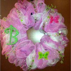 Pictures of Baby Wreaths | Cute girl baby door wreath | Baby wreath