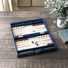 Birch Lane™ Heritage Checkered Brown Backgammon Board Game & Reviews | Wayfair Carrom Board Game, Labyrinth Board Game, Skittles Game, Checkers Board Game, Horse Race Game, Backgammon Game, Game Workshop, Old Games, Game Pieces