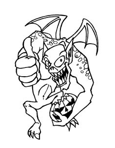 Dangerous Gargoyle Coloring Page Color This Picture Of With The Colors Your Choice Print Out And