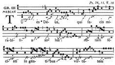 Neumen im Gregorianischen Choral