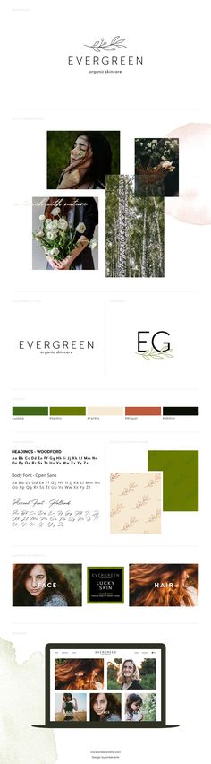 Organic, natural, eco-inspired branding board template for web and graphic designers - Layered Photoshop File A good brand board is a must-have for any serious Visual Identity, Brand Identity, Logo Branding, Branding Design, Branding Template, Magazine Design Inspiration, Logo Design Inspiration, Photoshop Program, Marca Personal