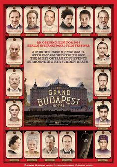 The Grand Budapest Hotel (2014) — An absurdist comedy that proves too absurd for me.