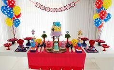 decoração temática Party Decoration, Paper Decorations, Childrens Party, First Birthdays, Buffet, Valentino, Birthday Cake, Fun, Kids