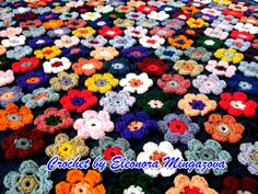 Ready to ship Flower Field Blanket Handmade Hand by MingazovArt