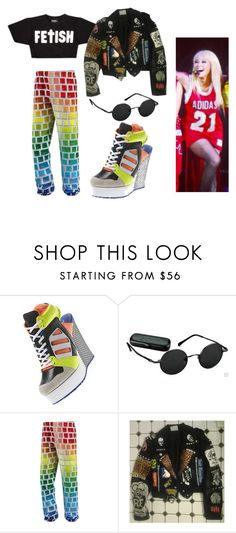 """""""+"""" by mishimaqueen ❤ liked on Polyvore featuring adidas, Jeremy Scott and mark."""