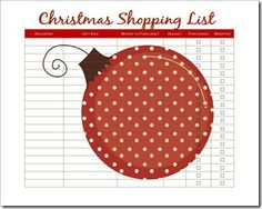 Gift List printables....from a quick glance this blog looks to be awesome!  There are a bunch of printables :)