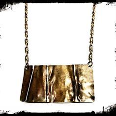 Hand forged brass plate necklace. #merrybethmyrickdesigns #gypsy #bohemian #necklace #artisanjewelry