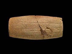The Cyrus Cylinder, Achaemenid, after 539 B.C. Terracotta, 22.9 x 10 cm. Image courtesy of and © The Trustees of the British Museum (2013). All rights reserved