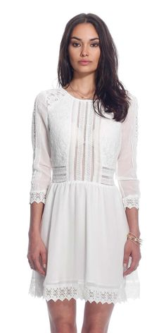 Heartloom -white cotton and lace dress