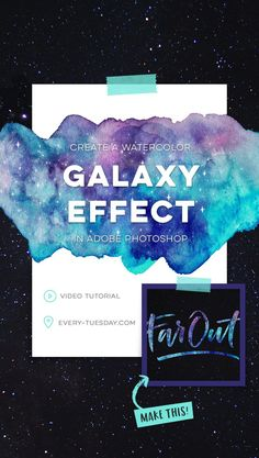 watercolor galaxy effect in Adobe Photoshop