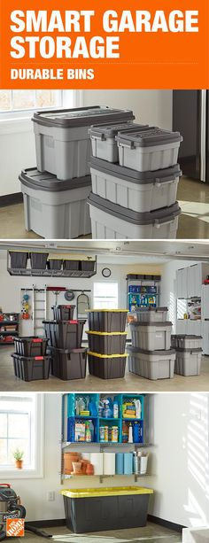 Garages are no longer just a space to park your car, they contain much-needed square footage for storage. Make the most of your garage with smart storage solutions like durable storage bins that easily stack and store away. Click to shop and start getting organized.