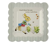 Peter Rabbit Dessert Plates | Peter Rabbit party supplies |  Undercover Hostess