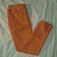Denim & Supply Ralph Lauren Crop Skinny Jeans Denim & Supply Ralph Lauren Cantaloupe Orange Crop Skinny Jeans Ralph Lauren Jeans Ankle & Cropped
