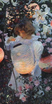 detail: John Singer Sargent 'Carnation, Lily, Lily, Rose'